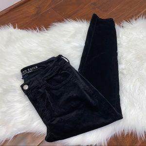 AEO Black Velvet Jegging Size 8 Short